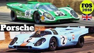 2x Porsche 917K in action, Flat-12 Sound! - 2018 Goodwood Festival of Speed