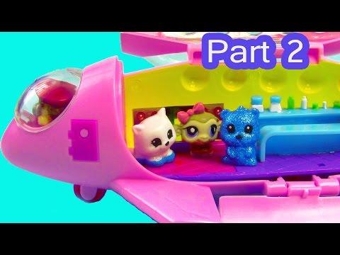 LPS Squinkies Jet Party Airplane Littlest Pet Shop Teensies Part 2 of 2 Video Series Cookieswirlc