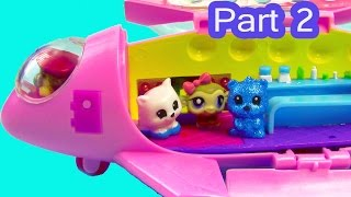 LPS Squinkies Jet Party Airplane Littlest Pet Shop Teensies Part 2 Of 2 Video Series Cookieswirlc