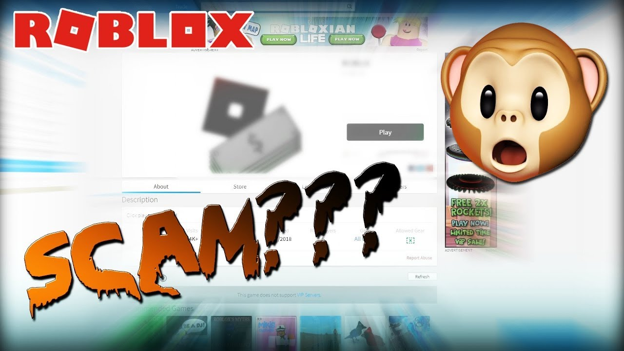 Free Robux Roblox Scams Youtube
