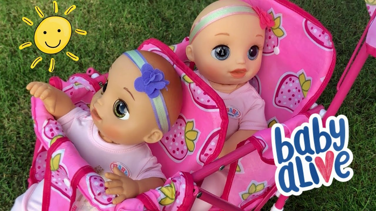 Baby Alive Video Real As Can Be Twins Double Stroller Ride