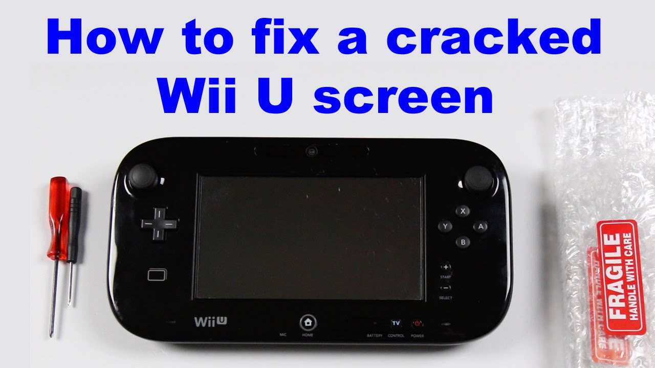 how to repair a cracked screen on the wii u gamepad fix it tutorials youtube. Black Bedroom Furniture Sets. Home Design Ideas
