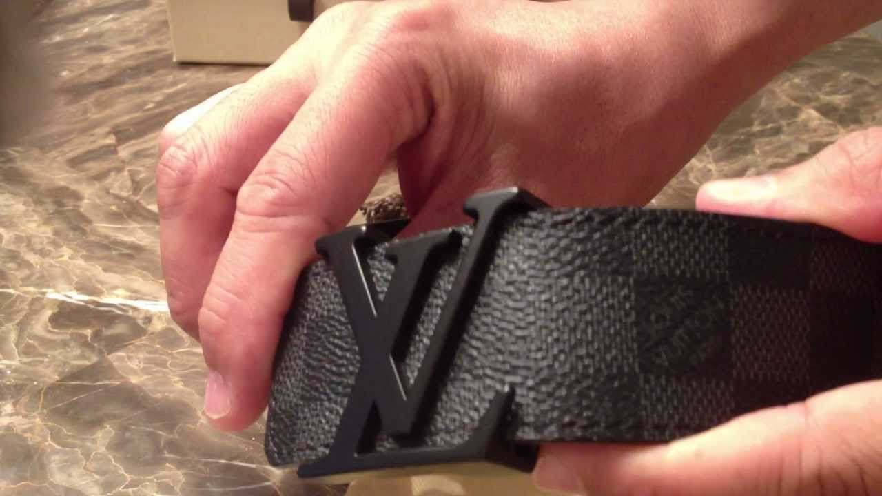 0c9bd27508a3 Louis Vuitton LV Buckle Damier Graphite Belt Review (Authentic) by  AVTProjects