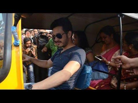 Akhil turns auto driver to fulfill a child wish | Akhil Akkineni | Full Video |
