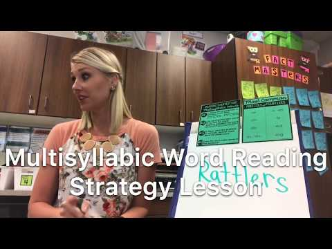 Multisyllabic Word Reading Strategy (5th Grade Text)