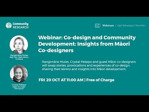 Co-design and Community Development: Kōrero and Insights from Māori Co-designers