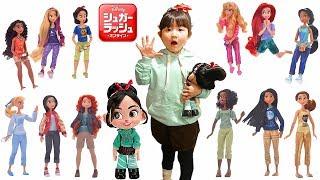 寸劇ごっこ遊び!ディズニープリンセス大集合!アニメ映画シュガーラッシュオンライン Disney Princess Ralph Breaks the Internet movie