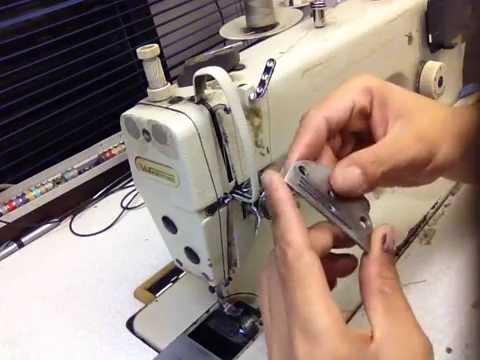 Aprenda regular sua Máquina reta industrial