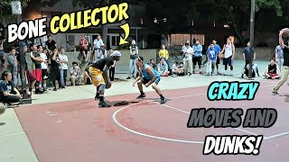 HOOPIN' WITH STREETBALL LEGEND BONE COLLECTOR!! 💀 GOT CROSSOVERED!!