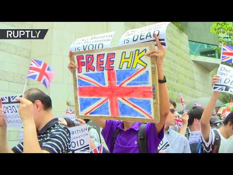 Hong Kong protesters sing 'God Save the Queen'  calling for UK support