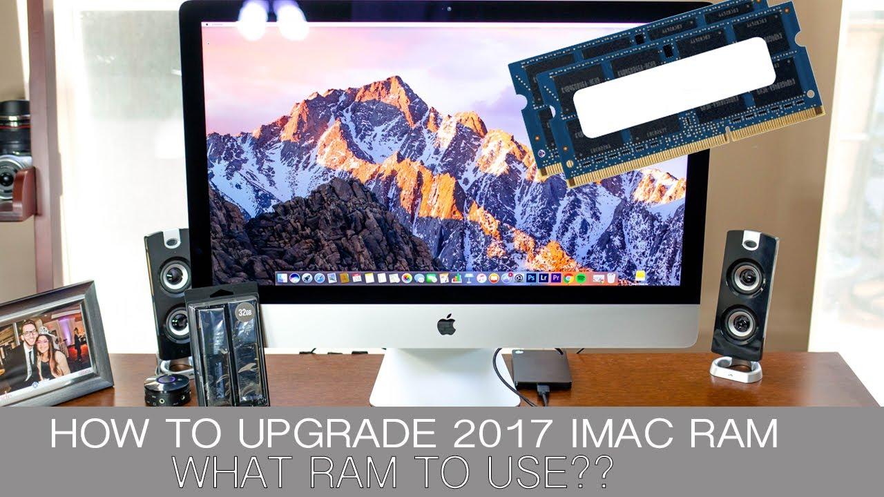 HOW TO UPGRADE NEW 2017 IMAC RAM - YouTube