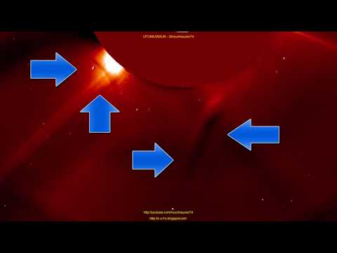 UFOs and alien ships vy the Sun 1-1-2018