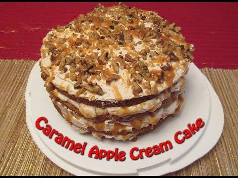 Caramel Apple Cream Cake Recipe