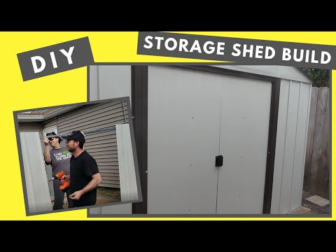 Arrow 8 x 10 Tool Shed Build - DIY