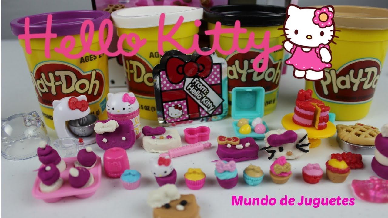 Play doh espanol juego de cocina de hello kitty mundo de for Ju3gos de cocina