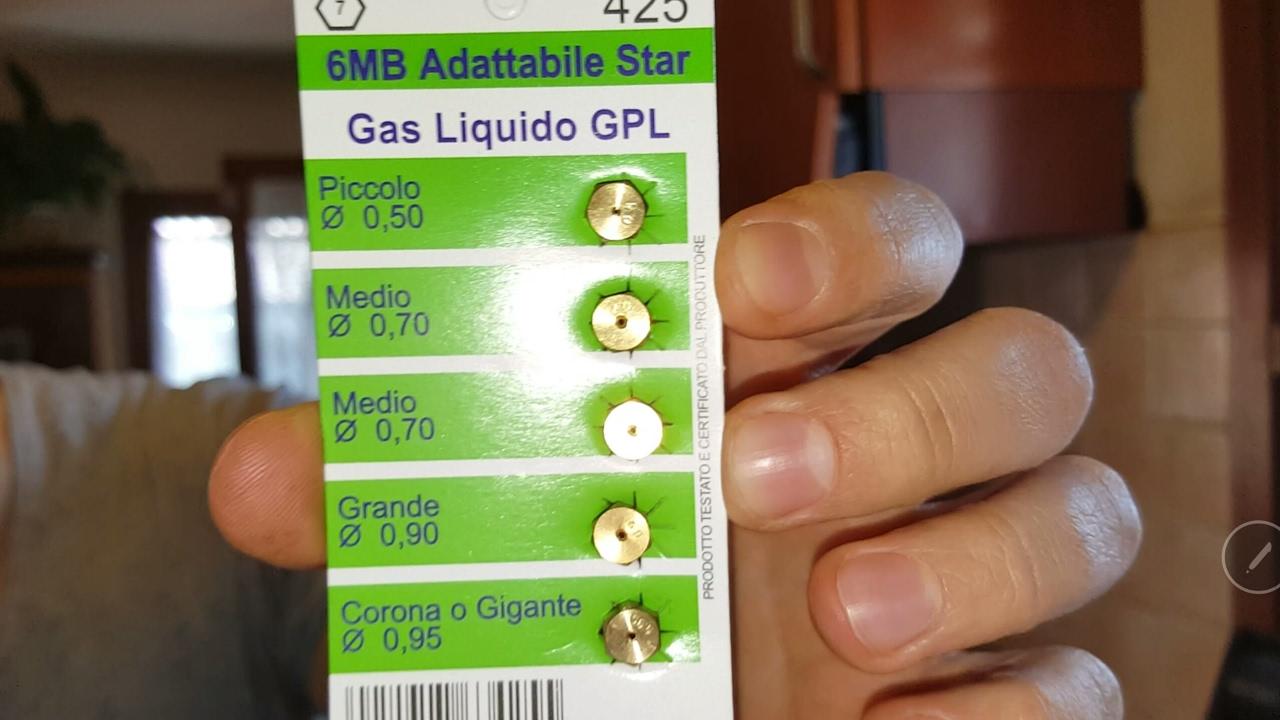 Cambiare gli Ugelli del piano cottura da gas Metano a GPL