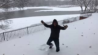 Lonely Pastor Preaching in the Snow