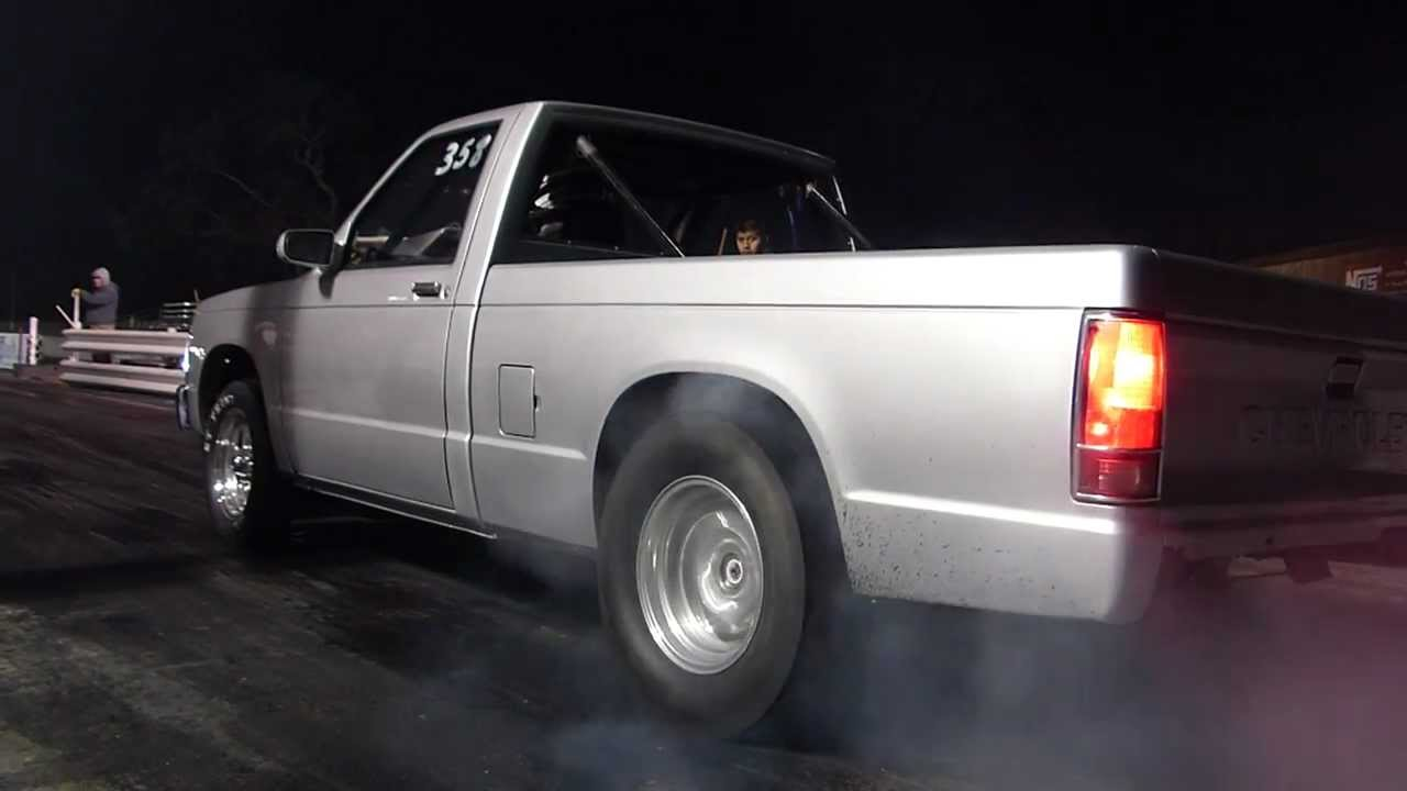 Silver S10 Drag Truck Texas Raceway Hd