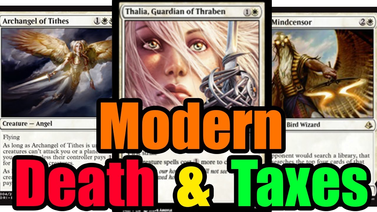 MTG Budget Modern Mono White Death and Taxes vs Affinity - YouTube
