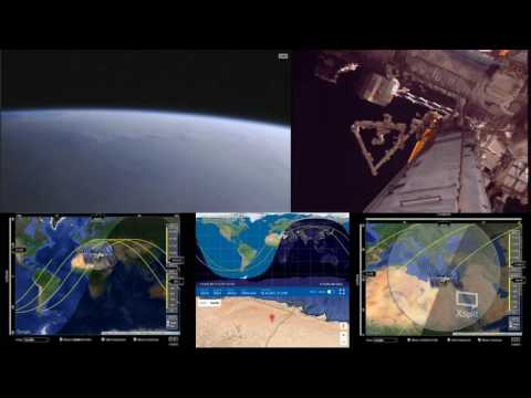 Orbital Sunset Over Europe - ISS International Space Station Live With 2 Cams And Tracking Data - 24