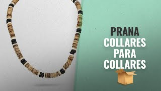 Productos 2018, Los 10 Mejores Prana: PRANA Fashion Necklace Coconut Bread Beads Surfer Beach Surf