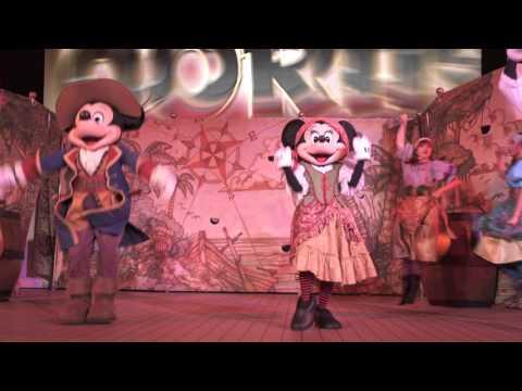 4K Pirates Deck Party Disney Cruiseline Disney Fantasy