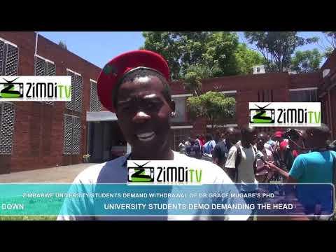 University students refused to write exams until Mugabe goes