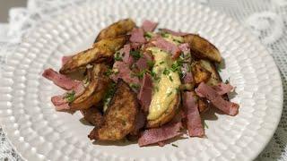 구운감자와 갈릭소스 Baked potato with g…