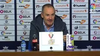 Rueda de prensa de Víctor Fernández tras el CA Osasuna vs Real Zaragoza (1-0)