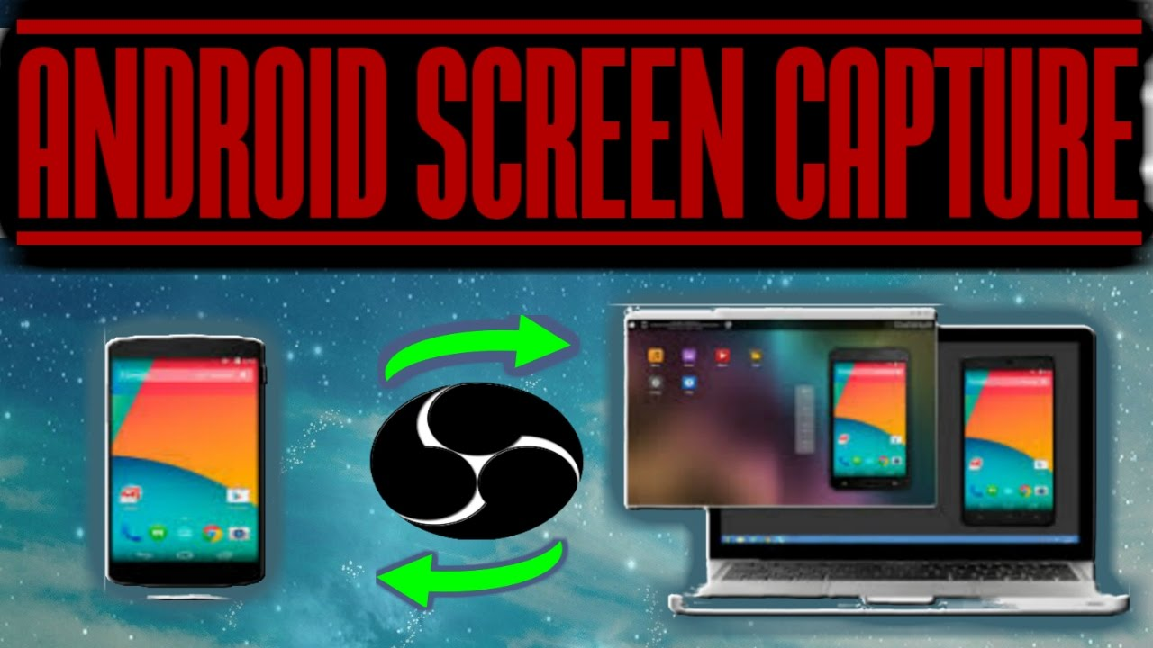 Screen Stream Mirroring + OBS (Open Broadcaster Software) [ ANDROID ] Phone  screen capture