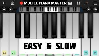 Sajan Mera Us Paar Hai(Slow & Easy)Piano Tutorial|Piano Keyboard|Piano Lessons|Piano Music|Piano