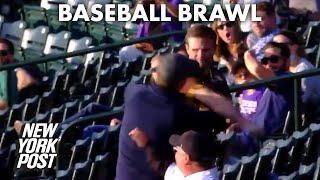 Padres fan knocks out Rockies fan with one punch in wild video | New York Post