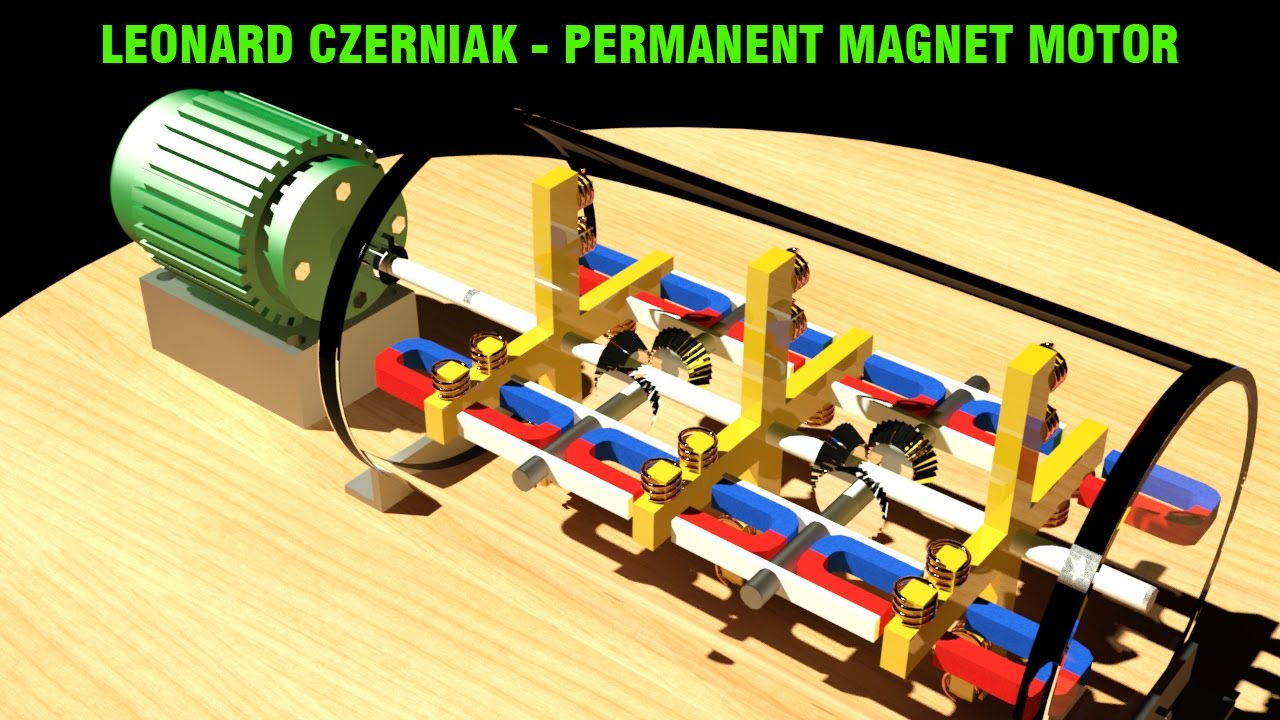 Free Energy Generator Leonard Czerniak Permanent Magnet Motor Youtube