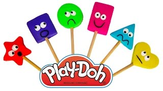Learn Shapes and Colors with Play Doh Surprises