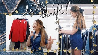 BACK TO SCHOOL THRIFTING + try on haul