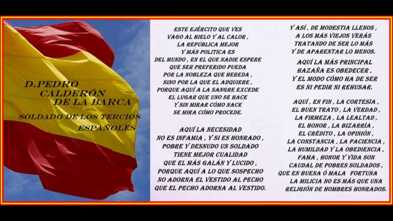 Poema A Los Tercios Españoles De D Pedro Calderón De La