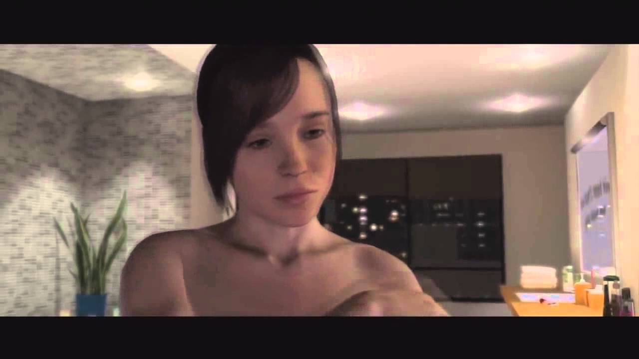3d beyond two souls games shower all naked uncensored 5