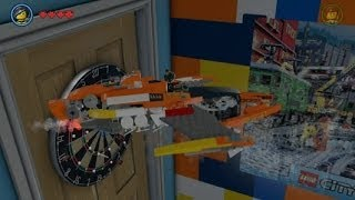 Lego Movie Videogame - Golden Instruction Build #3 - Wyldstyle's Flying Dragster Vehicle Showcase