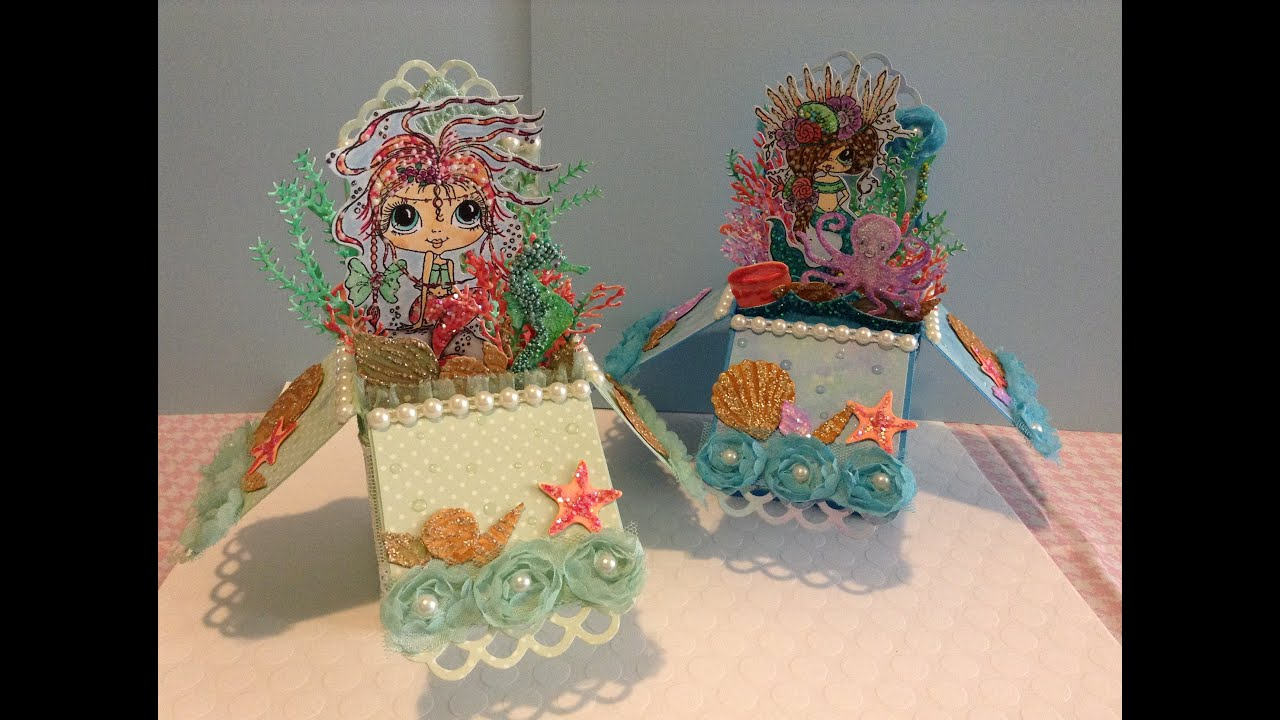 under the sea pop up box cards my besties stamps youtube. Black Bedroom Furniture Sets. Home Design Ideas