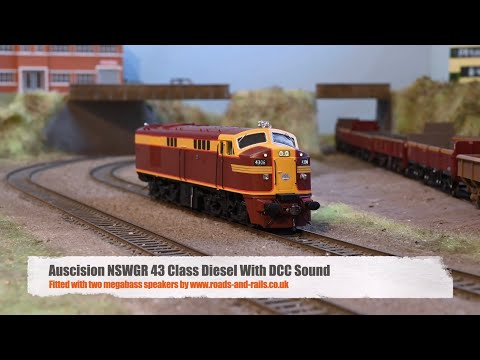 Auscision NSWGR 43 Class Diesel With DCC Sound And Two Megabass Speakers