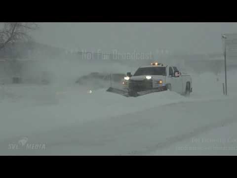 Fargo, North Dakota - Blizzard Raging, Interstates Closed, Horrible Travel Conditions - 12/29/2019