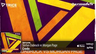 Stefan Dabruck vs Morgan Page - Credo (Original Mix)