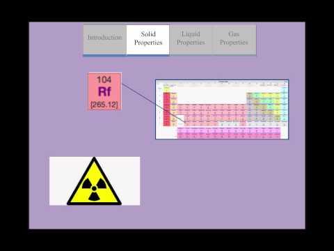 ChemWiki Elemental Minute: Rutherfordium(Physical Properties)