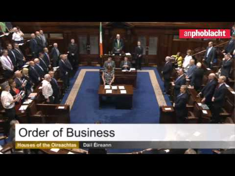 Dáil (Irish Parliament) stands in solidarity with the people of Gaza #GazaUnderAttack