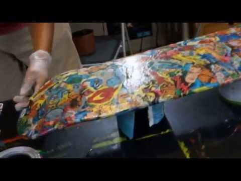 How to : make a comic book skateboard : Fantastic 4