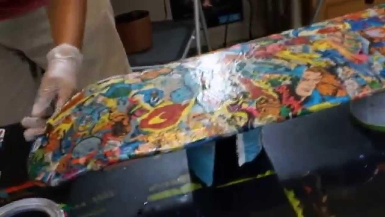How To Make A Comic Book Skateboard Fantastic 4 Youtube