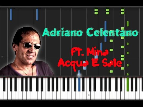 Adriano Celentano & Mina - Acqua e Sale [Synthesia Tutorial]