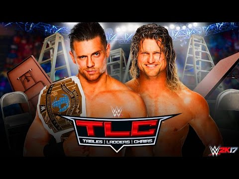 THE MIZ vs DOLPH ZIGGLER TLC MATCH 2016 !!! WWE 2K17