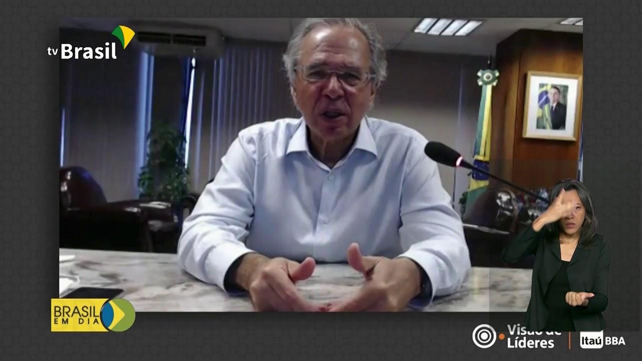 Ministro Paulo Guedes fala sobre a recuperação da economia