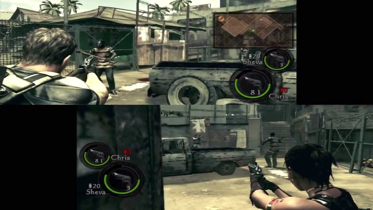 Resident Evil 5 Co Op Splitscreen Hd Executioner Majini Part 2
